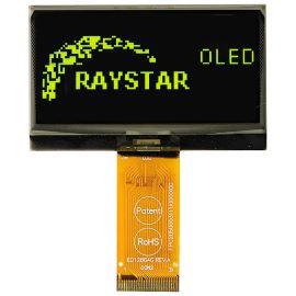 Grafický OLED displej Raystar RET012864GYPP3N00000