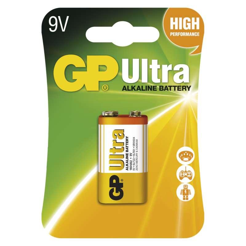 GP Batteries Alkalická baterie GP Ultra 6LF22 (9V), 1 ks v blistru
