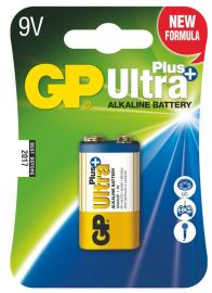 Alkalická baterie GP Ultra Plus 6LF22 (9V), 1 ks v blistru