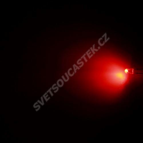 LED oválná 3,9x3,1mm červená 550mcd/(110/50°) difúzní Hebei 3751MR2D-SB