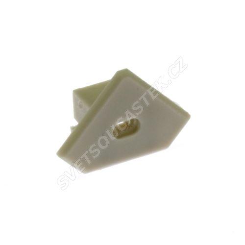 Plastová záslepka 45-ALU MW s otvorem KLUŚ 00031