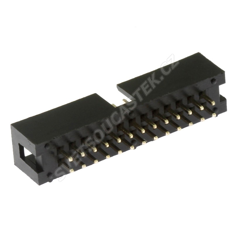 Konektor IDC pro ploché kabely 26 pinů (2x13) RM2.54mm do DPS přímý Xinya 118-A 26 G S K