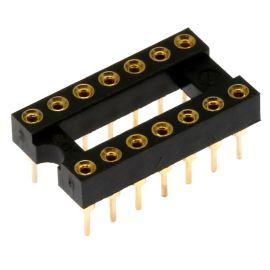 Precizní patice pro IO 14 pinů úzká DIL14 Xinya 126-3-14RG