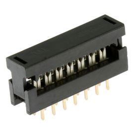 Konektor IDC pro ploché kabely 14 pinů (2x7) RM2.54mm samořezný do DPS přímý Xinya 123-14 G K