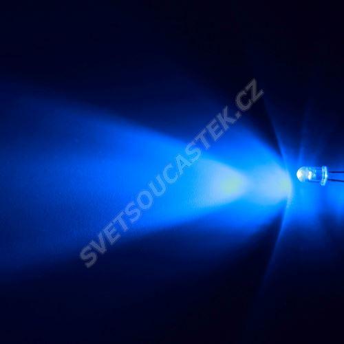 LED 5mm modrá 6000mcd/30° čirá Hebei 530XB7C