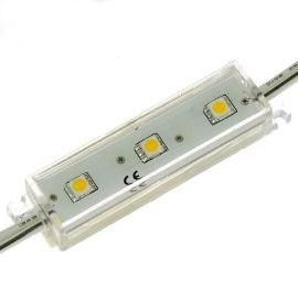 LED modul 3xLED 0.72W studená bílá, 45lm/120° - 70x20mm Hebei LM-5050W6-3P-12V
