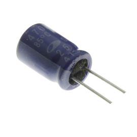 Elektrolytický kondenzátor radiální E 470uF/25V 8x11 RM3.5 85°C Samwha SD1E477M0811MPF159