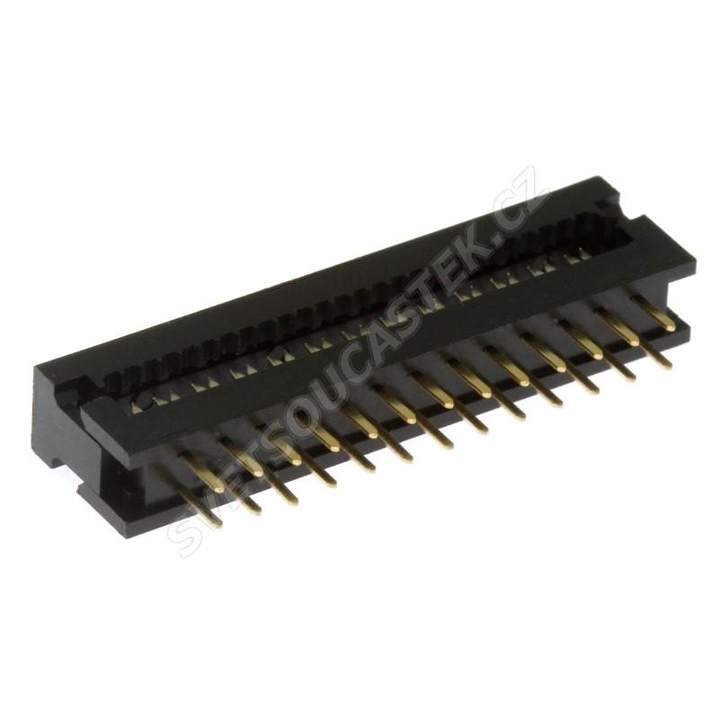Konektor IDC pro ploché kabely 26 pinů (2x13) RM2.54mm samořezný do DPS přímý Xinya 123-26 G K