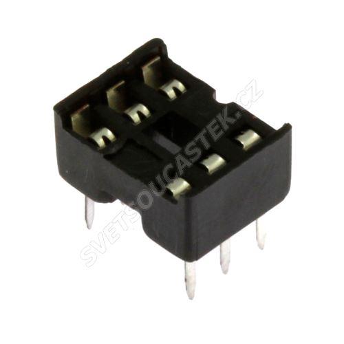 Patice pro IO 6 pinů úzká DIL6 Xinya 125-3-06