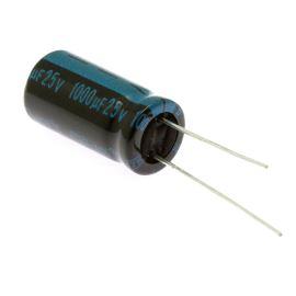 Elektrolytický kondenzátor radiální E 1000uF/25V 10x20 RM5 105°C Jamicon TKR102M1EG20M