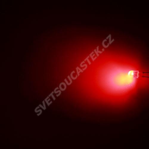 LED oválná 5,2x3,8mm červená 1100mcd/(110/45°) difúzní Hebei 7511PR2D-SB