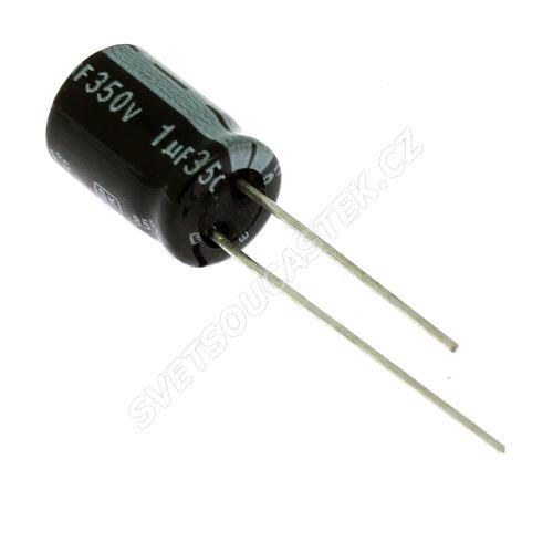 Elektrolytický kondenzátor radiální E 1uF/350V 8x11.5 RM3.5 85°C Jamicon SKR010M2VFBBM