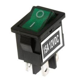 Kolébkový spínač do panelu spínací 1-pólový ON-OFF 15A 12V Jietong  MIRS-101-C3-D/G/B (12VDC)