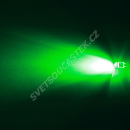 LED oválná 5,6x4,6mm zelená 12000mcd/(20/55°) čirá Hebei 725PG2C
