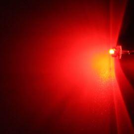 LED 4,8mm červená 280mcd/170° čirá Hebei 412HR3C