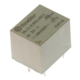 Elektromagnetické relé s DC cívkou do DPS 3VDC 10A/250VAC Finder 36.11.9.003.4011