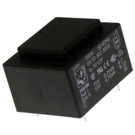 Transformátor do DPS 1.5VA/230V 2x15V Hahn BV EI 302 2028
