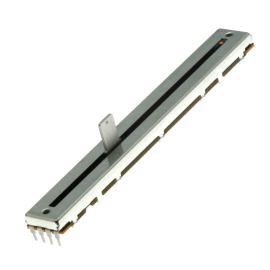 Posuvný potenciometr 500mW linární STEREO 10k Ohm 20% ALPS RSAON12-10KBX2