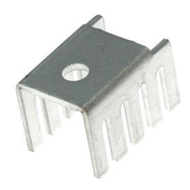 Hliníkový chladič pro TO220 bílý bez povrch. úpravy Assmann V7236C