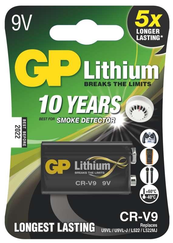 GP Lithium 9V 1ks 1022000911