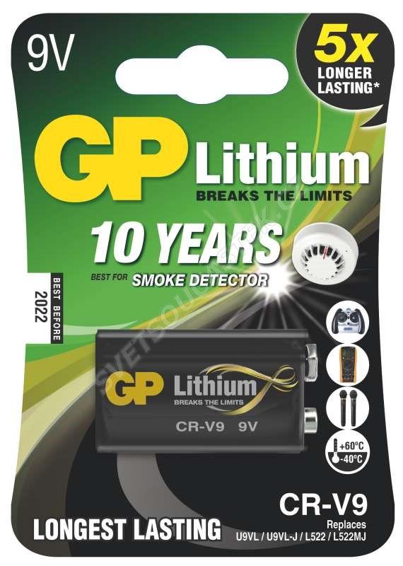 Lítiová batéria GP CR-V9, 1 ks v blistri