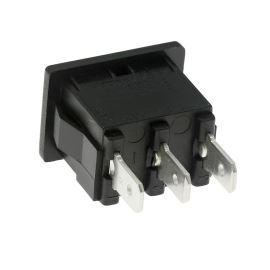 Kolébkový spínač do panelu přepínací 1-pólový ON-OFF-ON 10A/250V AC Bulgin H8620VBAAA