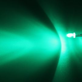 LED 3mm zelená 8000mcd/30° čirá Hebei 330PG0C