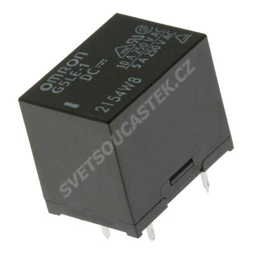 Elektromagnetické relé s DC cívkou do DPS 24VDC 10A/250VAC Omron G5LE-1 24VDC