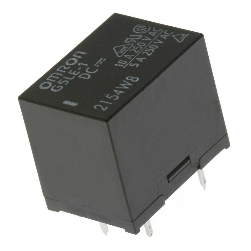Levně Elektromagnetické relé s dc cívkou do dps 12vdc 10a/250vac omron g5le-1 12vdc