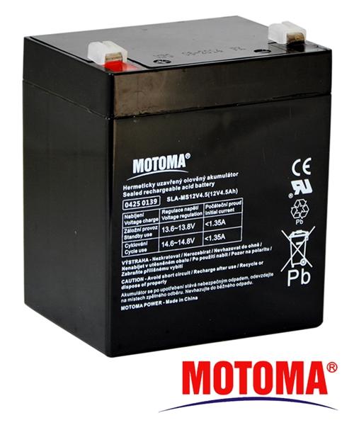 MOTOMA Baterie olověná 12V/ 4,5Ah bezúdržbový akumulátor