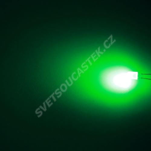 LED oválná 5,2x3,8mm zelená 2100mcd/(70/40°) transparentní Hebei 774PG2T-S