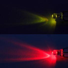 LED 3mm červeno-zelená 750/500mcd/30° čirá spol. katoda Optosupply OSRGHC3131A