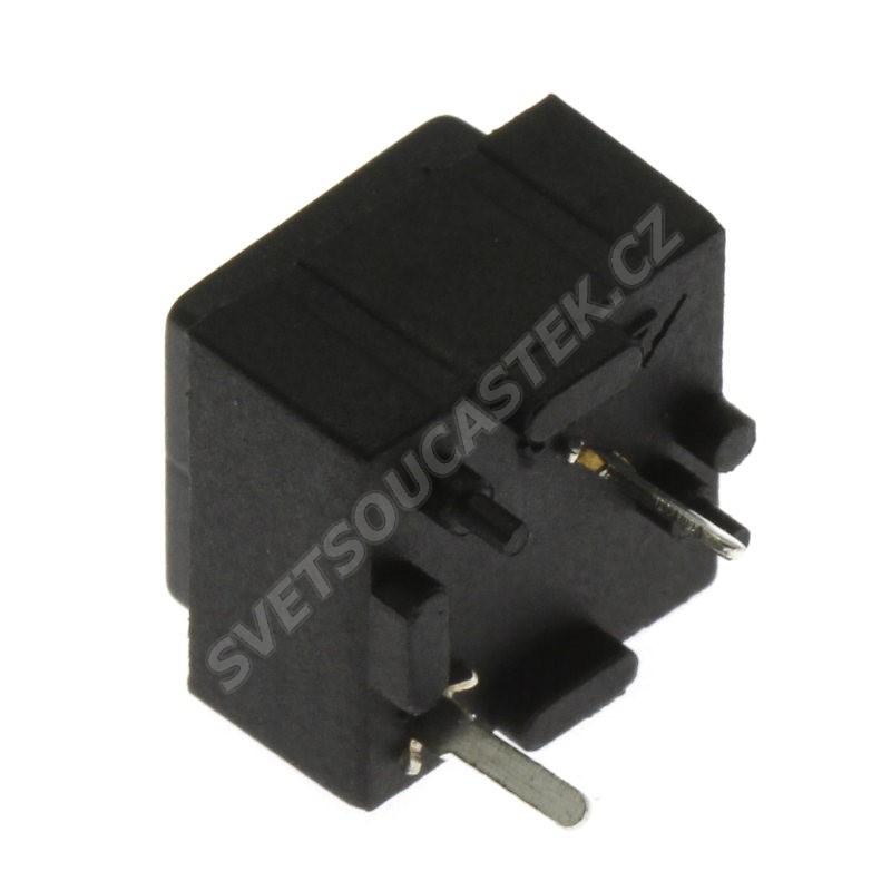 Tlačítkový spínač do DPS přímý spínací 1-pólový (ON)-OFF 25mA 50V Jietong  PBS-18B BLACK