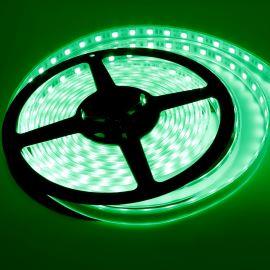 LED pásek zelená, SMD 5050, 60LED/m (balení 5m) - vodotěsný (silikon) STRF 5050-60-G-IP66