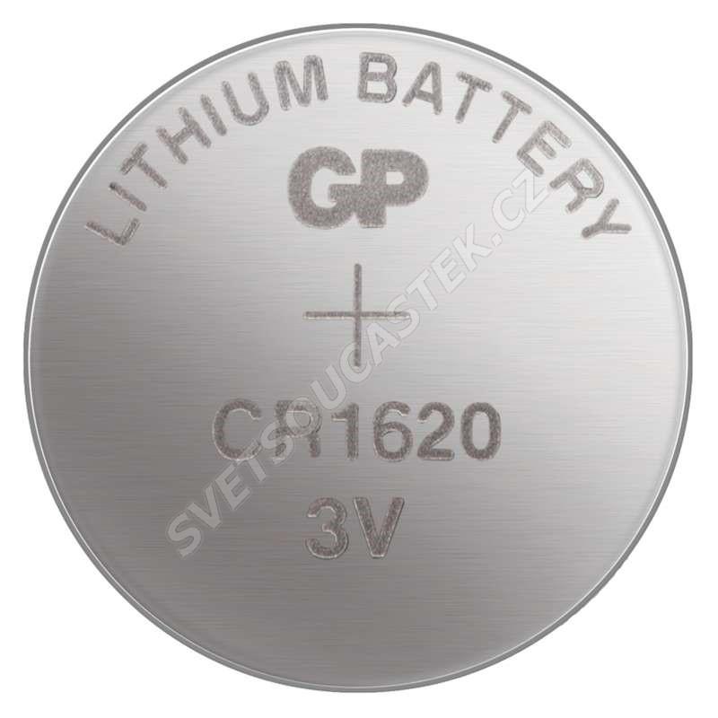Lítiová gombíková batéria GP CR1620