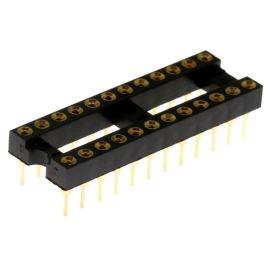 Precizní patice pro IO 24 pinů úzká Xinya DIL24 126-3-24RG