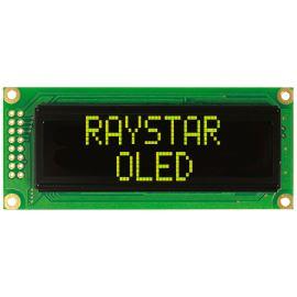 Alfanumerický OLED displej Raystar REC001602CYPP5N00000
