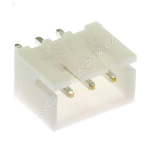 Konektor pro ploché kabely 3 piny (1x3) RM2.5mm do DPS přímý JST B3B-XH-A (LF)(SN)