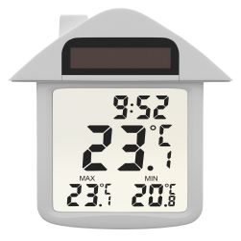 Solární okenní digitální teploměr s hodinami OT3335S