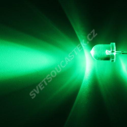 LED 8mm zelená 18000mcd/30° čirá Optosupply OSG5DA8131A