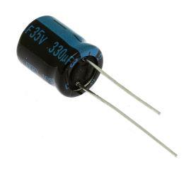 Elektrolytický kondenzátor radiální E 330uF/35V 10x12.5 RM5 105°C Jamicon TKR331M1VGBCM