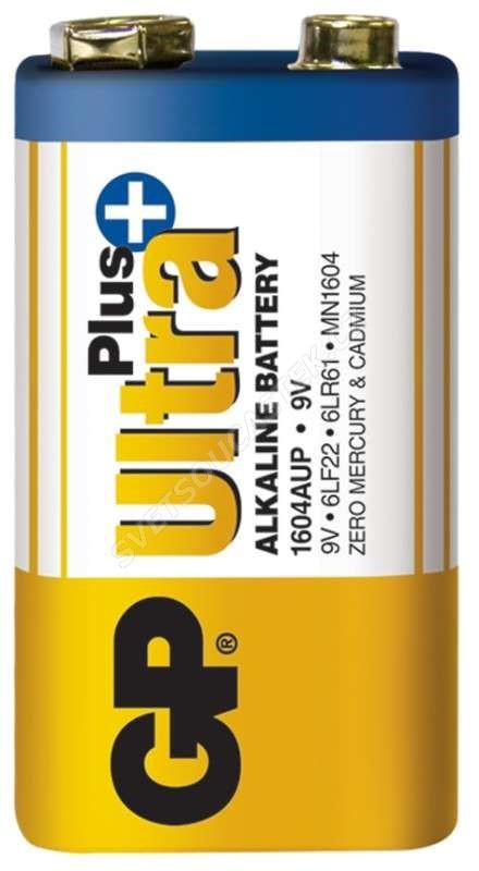 Alkalická baterie GP Ultra Plus 6LF22 (9V), 1 ks v blistru
