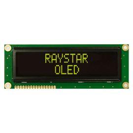 Alfanumerický OLED displej Raystar REC001602BYPP5N00001