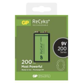 Nabíjecí baterie GP ReCyko+ 200 6HR61 (8,4V), 1 ks v blistru