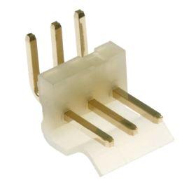 Konektor se zámkem 3 piny (1x3) do DPS RM3.96mm úhlový 90° pozlacený Xinya 134-03 R G