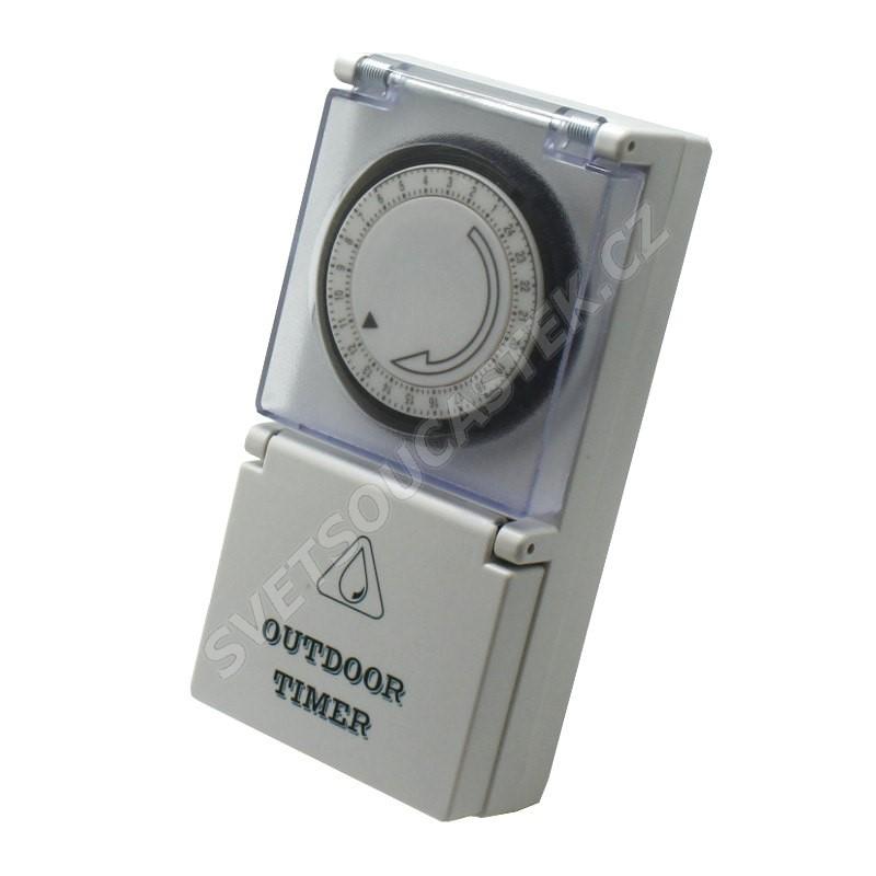 Mechanické spínací hodiny denní venkovní IP44