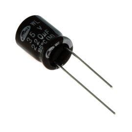 Elektrolytický kondenzátor radiální E 220uF/35V 10x12.5 RM5 105°C low ESR Samwha WL1V227M1012MBB