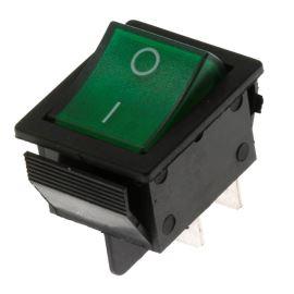 Kolébkový spínač do panelu spínací 2-pólový ON-OFF 20/15A 125/250V AC Jietong  IRS-201-1C3-G/B