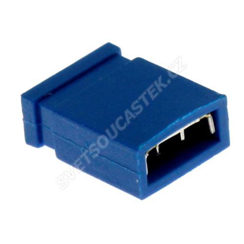 Modrý JUMPER uzavřený RM2.54mm Xinya 116-A-G 4