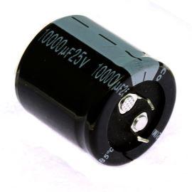 Elektrolytický kondenzátor Snap-in E 10000uF/25V 30x30 RM10 85°C Jamicon LPW103M1EP30M